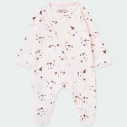 pelele bebe niña invierno rosa de boboli naves espaciales