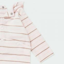 pelele bebe niña boboli de invierno rosa