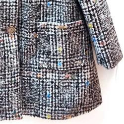 detalle bolsillo chaqueton niña paño negro jaspeado bbz