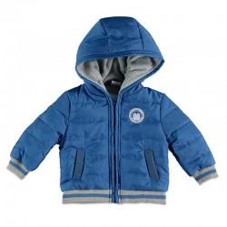 cazadora bebe niño azul con capucha de bimbalu