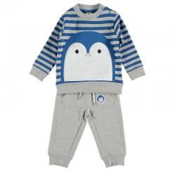 chandal bebe niño bimbalu gris y azul a rayas