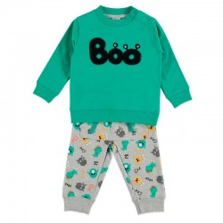 chandal bebe niño bimbalu monstruos verde y gris