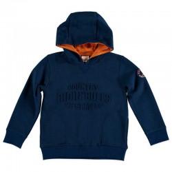 sudadera niño azul con capucha de wooloomooloo