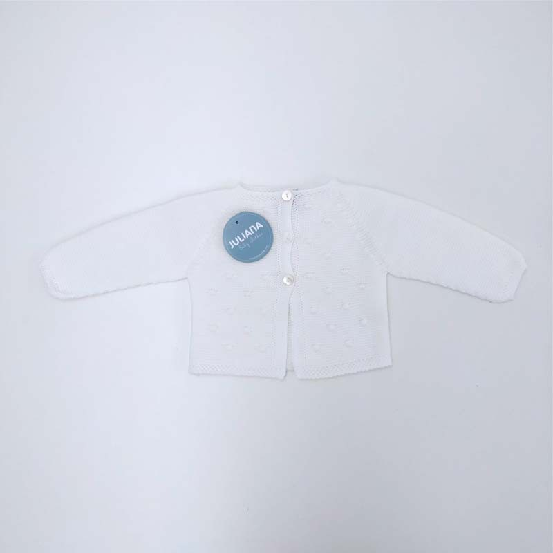 chaqueta punto bebe de juliana blanca