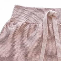 conjunto bebe rosa de liandme jersey y polaina