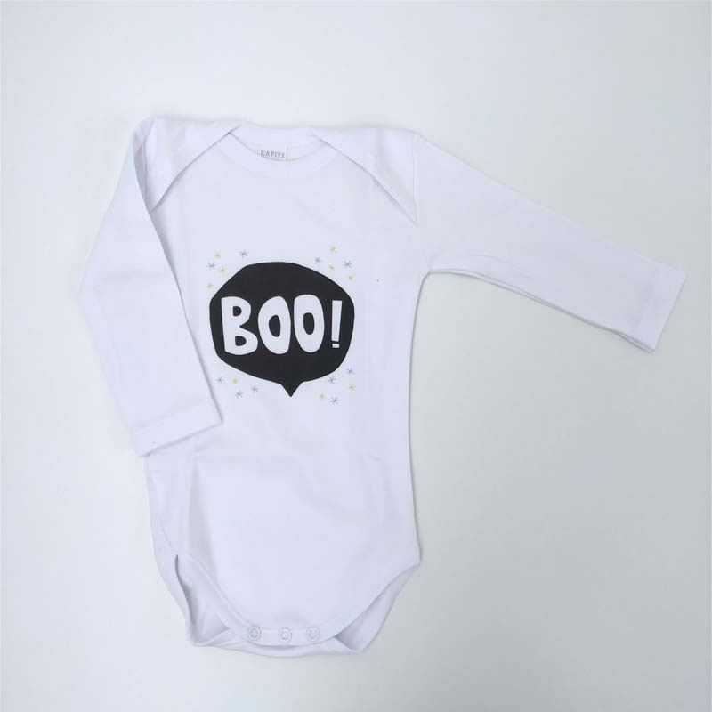 body bebe manga larga blanco estampado boo