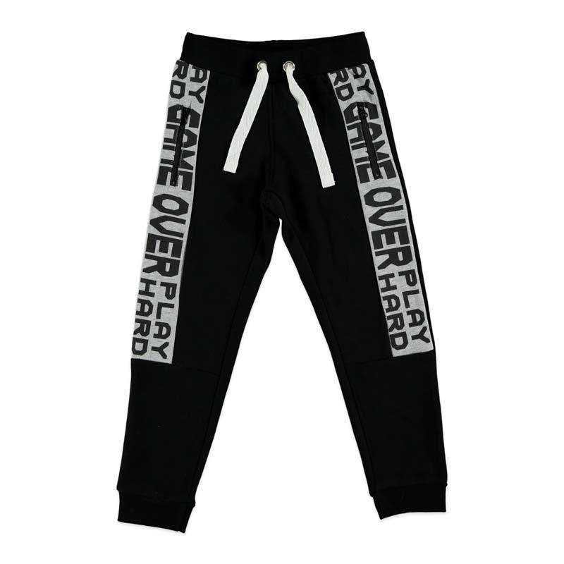 pantalon largo felpa niño de wooloomooloo negro