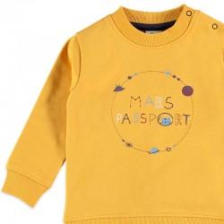 chandal felpa bebe bimbalu amarillo y marino de planetas