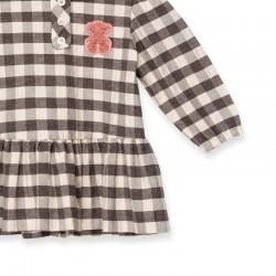 vestido bebe de invierno tous baby a cuadros grises
