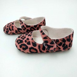 zapatos bebe merceditas de camuflaje rosa
