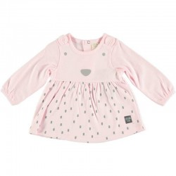 vestido bebe punto algodon rosa cotton fish