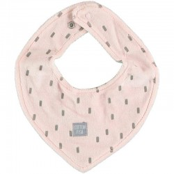 bandana terciopelo bebe rosa y gris cotton fish