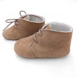 zapatos bebe cuquito de piel vuelta marron
