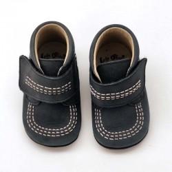 zapatos botas bebe azul marino de leon shoes