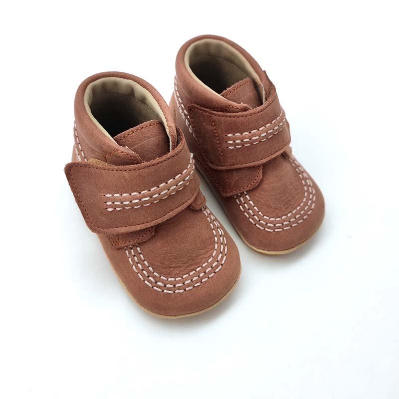 zapatos botas bebe marrones de leon shoes