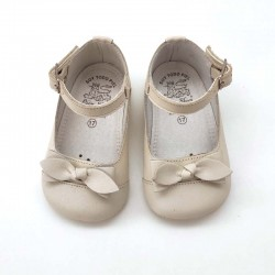 merceditas bebe niña beige leon shoes