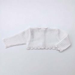 chaqueta calada cruda de bebe paz rodriguez