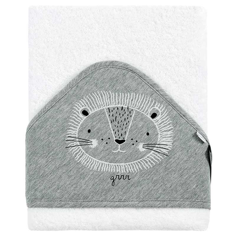 capa baño bebe gris y blanca bimbidreams leon