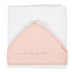 capa baño bebe planet rosa de bimbidreams