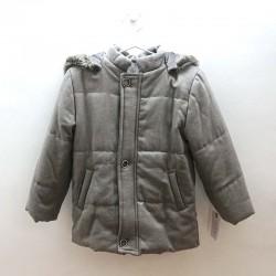 cazadora niño bbz gris claro capucha desmontable