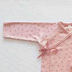 jubon conjunto primera puesta bebe niña rosa de lillymom