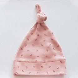 gorro recien nacido rosa lillymom con nudo