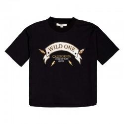 foto camiseta niña garcia jeans negra y dorada