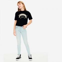 look camiseta niña garcia jeans negra y dorada