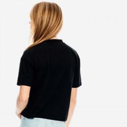 espalda camiseta niña garcia jeans negra y dorada