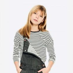 camiseta niña garcia jeans rayas negras