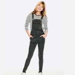 look camiseta niña garcia jeans rayas negras