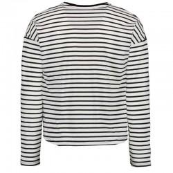 foto espalda camiseta niña garcia jeans rayas negras