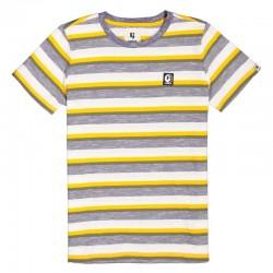 camiseta niño garcia jeans a rayas amarillas y grises