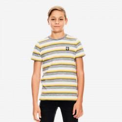 camiseta manga corta niño garcia jeans amarilla y gris