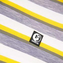 estampado camiseta manga corta niño garcia jeans amarilla y gris