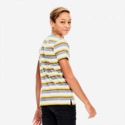 camiseta manga corta niño garcia jeans amarilla y gris de espalda