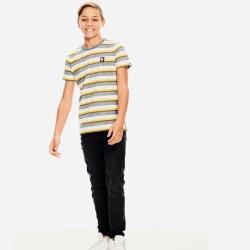 look camiseta manga corta niño garcia jeans amarilla y gris