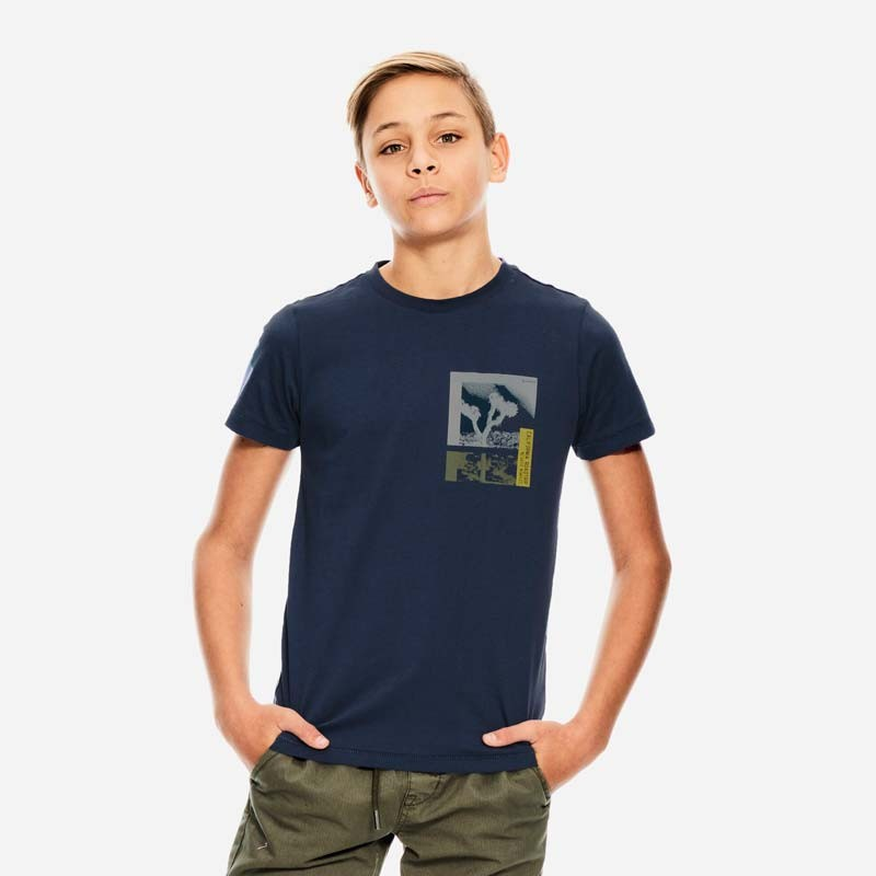 camiseta manga corta niño azul marino de garcia jeans