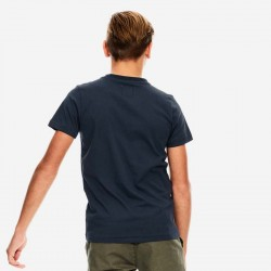 camiseta manga corta niño azul marino de garcia jeans por detras