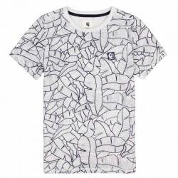 camiseta niño manga corta de garcia jeans estampado geometrico