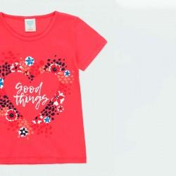 estampado camiseta niña boboli roja y flores