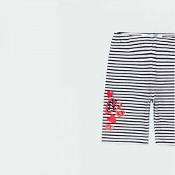 short niña boboli a rayas marino con detalle rojo