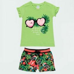 conjunto niña de verano verde tropical de boboli