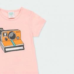 detalle camiseta rosa boboli de punto