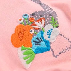 estampado camiseta rosa boboli con flamingo de colores