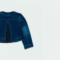 chaqueta vaquera bebe niña azul de boboli por detrás