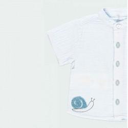 camisa bebe niño de gasa azul claro boboli