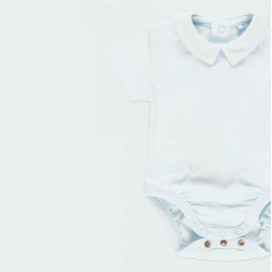 obertura de pelele bebe azul claro de boboli