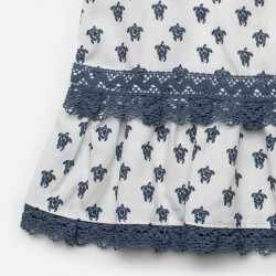 estampado vestido bebe juliana de tortugas azules