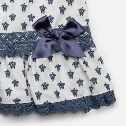 lazo de vestido bebe juliana estampado tortugas